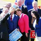 DUP leader Arlene Foster with her DUP candidates pictured at the campaign launch. Picture by Kelvin Boyes / Press Eye.