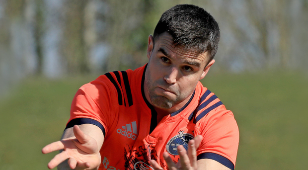 Duel: Conor Murray (pictured) and Rhys Webb are vying to be the Lions' starting No.9