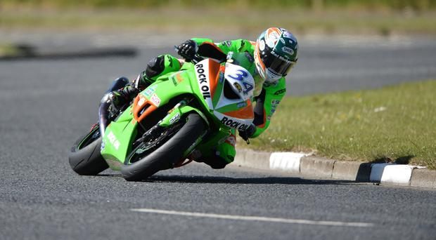 Alastair Seeley during Tuesday's North West 200 practice .Photo: Rowland White / PressEye
