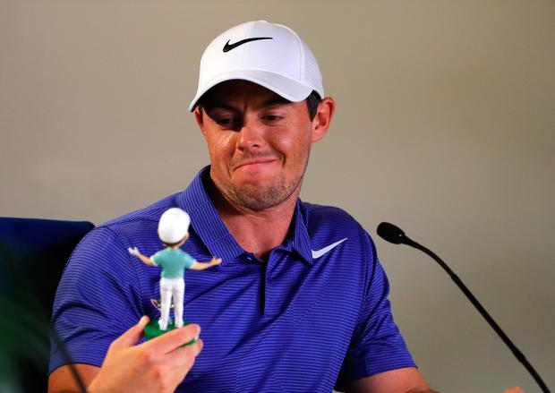 Rory McIlroy of Northern Ireland addresses a press conference ahead of the THE PLAYERS Championship on the Stadium Course at the TCP Sawgrass on May 9, 2017 in Ponte Vedra Beach, Florida. (Photo by Warren Little/Getty Images)