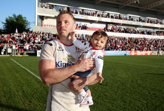 Farewell: Roger Wilson says goodbye to the Ulster fans at the Kingspan Stadium on Saturday