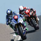 Main men: Alastair Seeley (No4) and Michael Rutter were fastest in North West practice yesterday