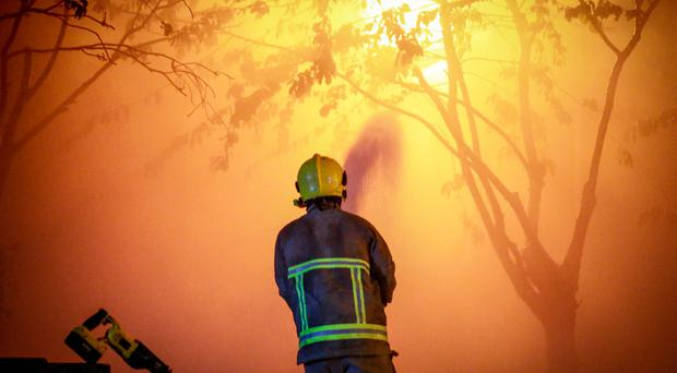 Firefighters battle a blaze overnight on the Holywood Road in east Belfast on May 9, 2017 (Photo - Kevin Scott / Belfast Telegraph)