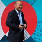 Group of death: Eddie Jones arriving at the World Cup draw