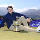 Just champion: Colm Campbell at Royal County Down ahead of his title defence