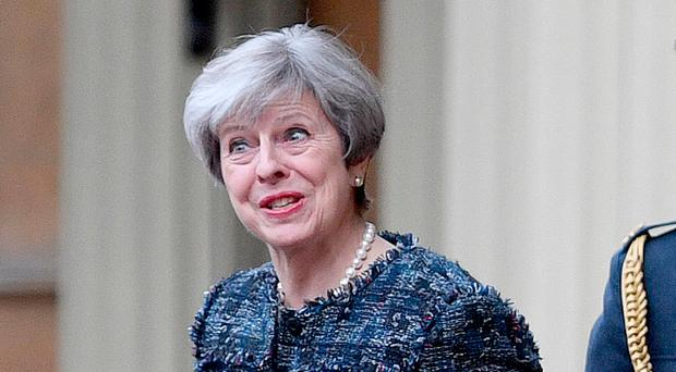 Vow: Prime Minister Theresa May