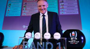 Big occasion: Joe Schmidt can't wait until 2019, but insists Ireland will be posed difficult tests in the pool stage in Japan