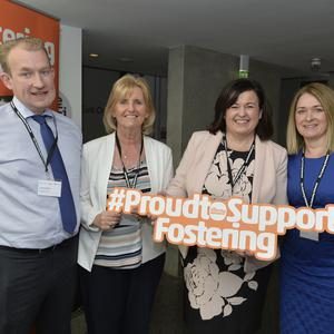 Colm McCafferty, Assistant Director Southern Trust, Gemma Fitzsimmons, Senior Manager Southern Trust, Kathleen Toner, Director The Fostering Network, Sheila Smyth, Senior Social Worker Southern Trust.