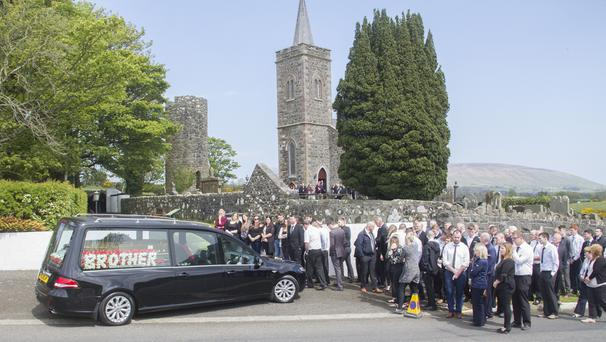 Family and friends at the Funeral of Dylan O'Kane at St Patrick's Parish Church, Armoy. Picture Colm O'Reilly 11-05-2017