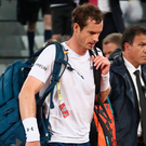 Deja vu: Andy Murray trudges off court after being beaten by Borna Coric. Photo: Julian Finney/Getty Images