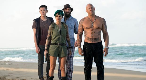 The cast of xXx: Return Of Xander Cage. Photo: PA Photo/Paramount