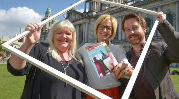 Deirdre Robb, Arts Development Officer Visual Arts at Arts Council of Northern Ireland; Brona Whittaker, Arts Manager at Arts & Business NI; and Michael Weir, Festival Director at Belfast Photo Festival. (Aaron McCracken Photography)