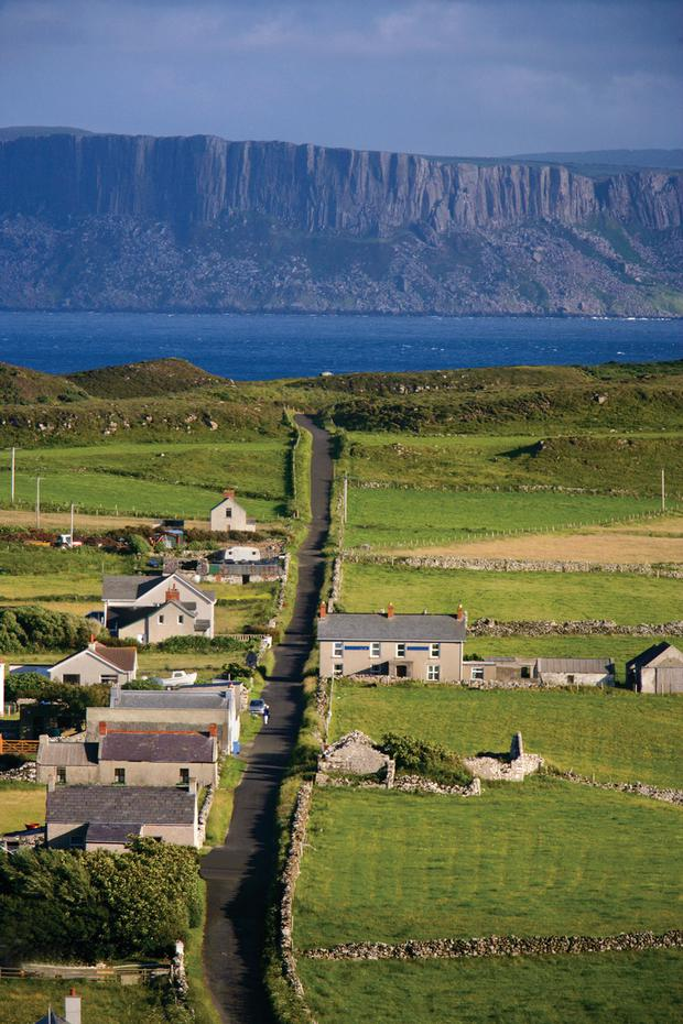 Rathlin Island is an island off the coast of County Antrim in Northern Ireland, and is the northernmost point of the region.