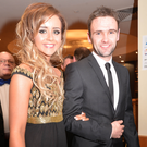 All smiles: William Dunlop and his partner Janine Brolly