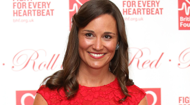 Golden girl: Pippa Middleton at a fundraising event in London
