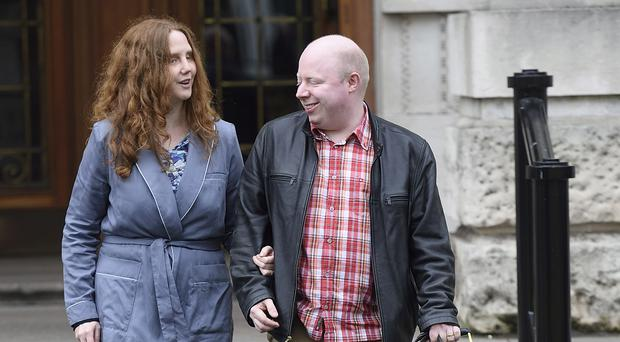 Joanna Toner pictured with her husband Barry outside the High Court in Belfast Picture: Michael Cooper