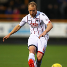 Big impact: Liam Boyce has attracted interest from England after a golden season in front of goal for Ross County