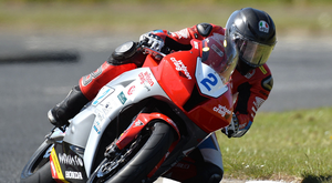 Star attraction: Guy Martin will race on the Wilson Craig Honda at the NW200 today