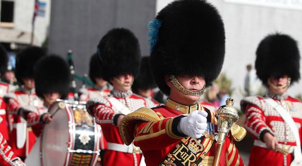 The Irish Guards' regiment will participate in the parade to celebrate the Queen's birthday
