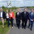 MEPs in Co Louth yesterday to discuss Brexit. From left: Esteban Gonzalez Pons, Esther De Lange, Mairead McGuinness, Sean Kelly, Elmar Brok and Brian Hayes