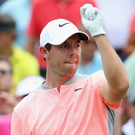 Sad end: Rory McIlroy had a double-bogey on the 18th