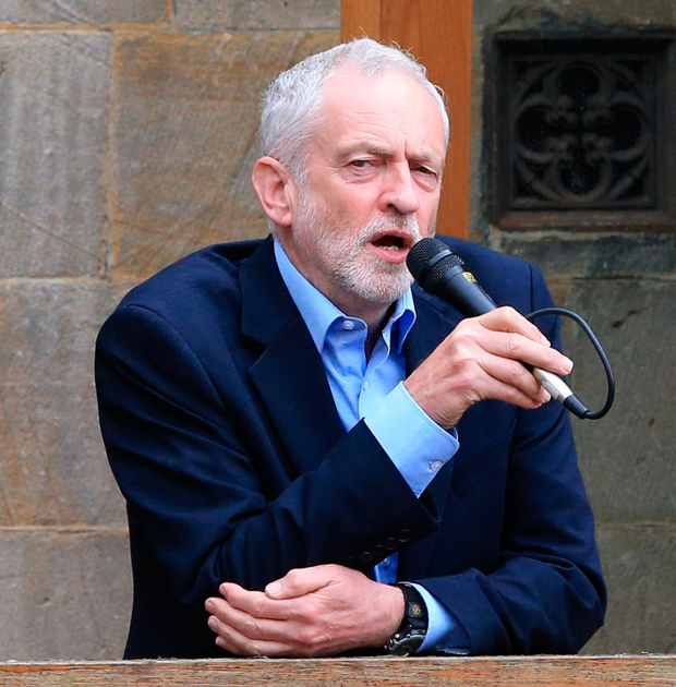 Labour leader Jeremy Corbyn speaking at Hebden Bridge Town Hall, during a General Election campaign visit. PA