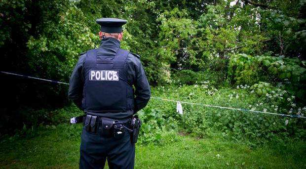Police officers at the scene of an incident at the Falls Park in West Belfast on May 15th 2017 (Photo - Kevin Scott / Belfast Telegraph)