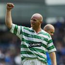John Hartson, who won three league titles with Celtic, will talk about his days at Parkhead when he appears in Belfast in October. Photo: Getty Images