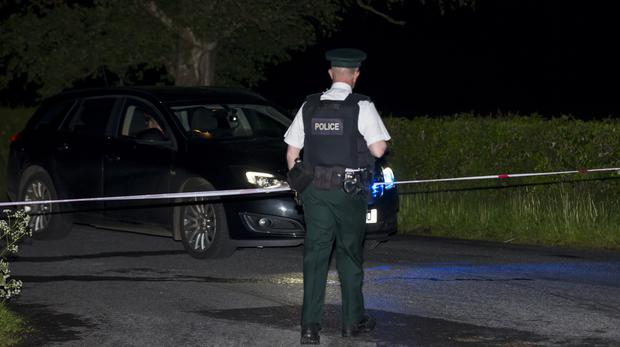 Police at the scene of an incident in the Abbey Road area of Lisnaskea in which two people have died on May 15th 2017 (Photo - Kevin Scott / Belfast Telegraph)