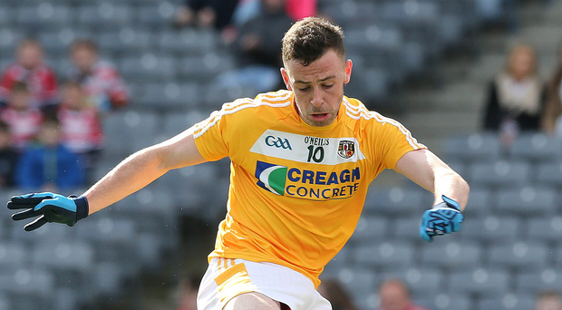 Heavy ban: Antrim's Matthew Fitzpatrick is facing the best part of two seasons on the sidelines