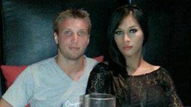 Marcus Volke with his wife Mayang Prasetyo