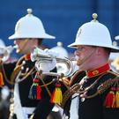 Band of Her Majesty's Royal Marines Scotland parading in Ballymena. Photo by Kelvin Boyes / Press Eye.