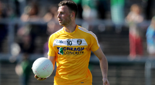 Big ban: Antrim's Matthew Fitzpatrick has been given a heavy suspension