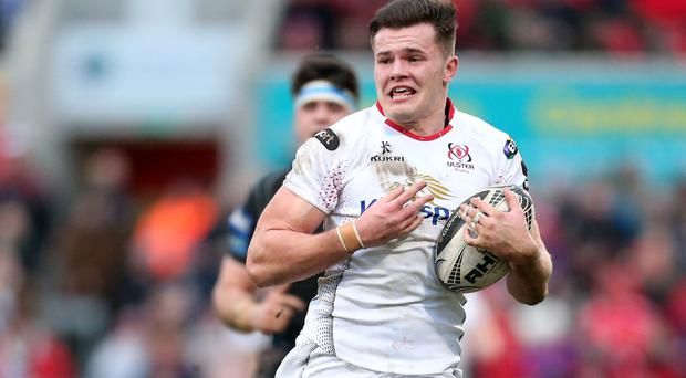 Key player: Jacob Stockdale has notched nine tries