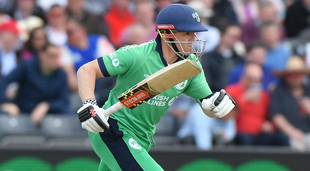 Runs fun: Niall O'Brien hit top form with first ODI hundred