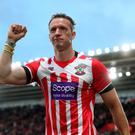 Paralympian Richard Whitehead on the pitch at half time during the Premier League match at St Mary's, Southampton. PA