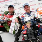Super show: Glenn Irwin and Alastair Seeley, now more famous and much faster than Carrickfergus Castl