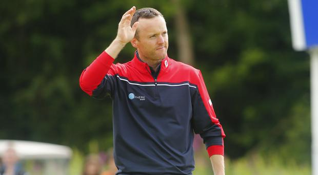 Career low: Michael Hoey shot a 61 in his opening round and continued his good form on Friday morning