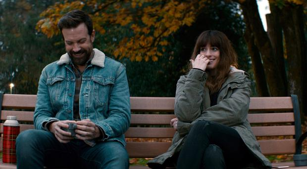 Grand ambitions: Jason Sudeikis and Anne Hathaway in Colossal