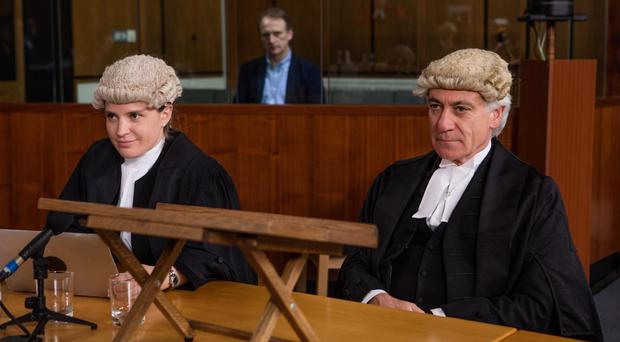 Holding court: barristers Lucy Organ and John Ryder