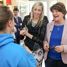 DUP leader Arlene Foster and Carla Lockhart MLA visit the Brown Bear in Banbridge