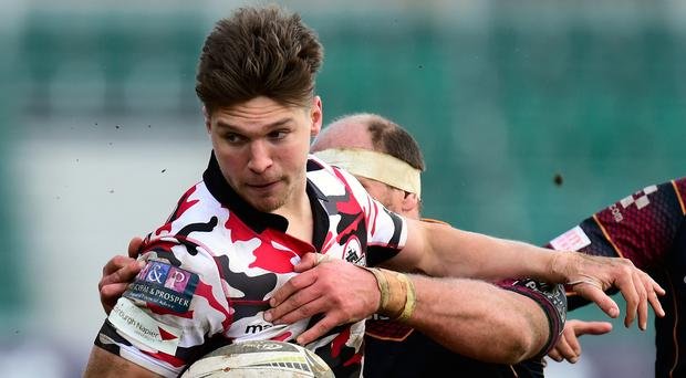 End game: Mike Allen in action for Edinburgh