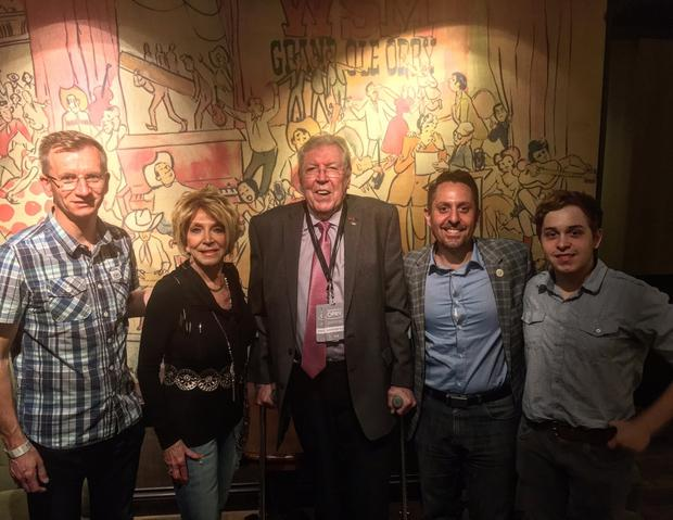Belfast Mayor Brian Kingston meets singer Jeannie Seely and friends backstage at The Grand Ole Opry in Nashville