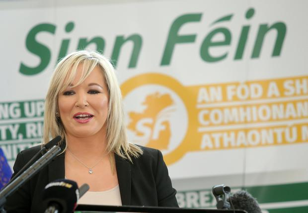 Sinn Fein's Michelle O'Neill launches her party's manifesto. Picture by Jonathan Porter/PressEye.com