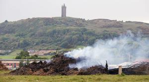 Burning rubbish in Newtownards in Co. Down which has been smouldering for the last few days. Picture by Jonathan Porter/PressEye.com