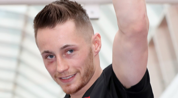 World vision: Ryan Burnett, pictured during his public work-out at Castle Court in Belfast, is out to fulfil his world title dream