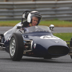 Back home: John Crossle's first rear-engined racing car, the 4F