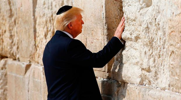 US President Donald Trump visits the Western Wall