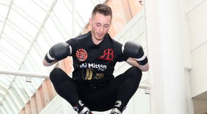 Ryan Burnett is flying high during his public workout at the CastleCourt Shopping Centre in Belfast ahead of his clash with IBF World Bantamweight champion Lee Haskins at the SSE Arena on June 10.