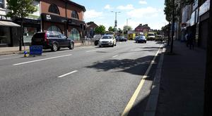 The scene at the Upper Netownards Road, which has been closed in both directions following a collision.